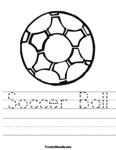 Soccer Ball 2 Worksheet from TwistyNoodle.com
