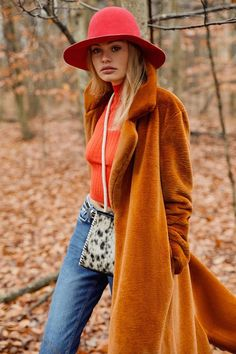 UO Charlie Long Faux Fur Coat   Urban Outfitters