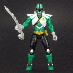 """Power Rangers Super Samurai Mega Green FOREST RANGER 4"""" Action Figure MMPR  #Bandai"""