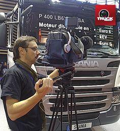 POLLUTEC 2012 : Vincent Mahé fidèle au poste pour vos reportages TRUCKEDITIONS :-)