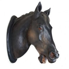 19th Century Patinated Terracotta Horse Head