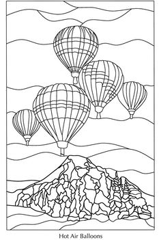 1000 Images About Hot Air Ballons To Color On Pinterest