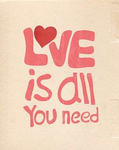 love is all you need #love #art #pink #illustrations