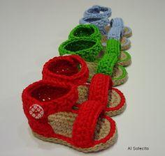 Sandalias de bebé.