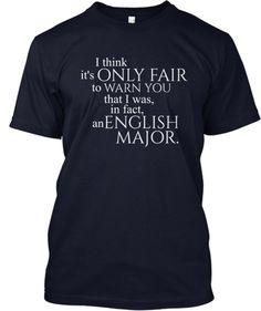English Major shirts | Teespring