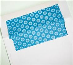 Dress up the inside of your envelope!