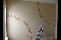 Baseball wall paint/decor for a little boys room