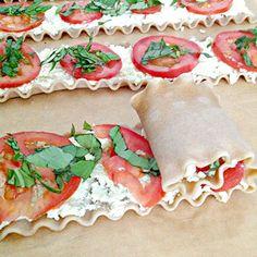 Everyday is a Holiday: Plum Tomato & Basil Lasagna Roll Ups Lasagna Recipes lasagna rolls Pasta Recipes, Great Recipes, Cooking Recipes, Favorite Recipes, Healthy Recipes, Lasagna Recipes, Cooking Tips, Vegetarian Recipes, Lasagne Roll Ups