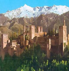 The Alhambra in Granada, Spain. Went here with my parents and Boris in 1998. We all loved it.