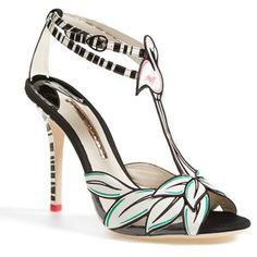 Women's Sophia Webster 'Flamingo' T-Strap Leather Sandal