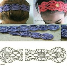 Exceptional Stitches Make a Crochet Hat Ideas. Extraordinary Stitches Make a Crochet Hat Ideas. Bandeau Crochet, Crochet Flower Headbands, Crochet Headband Pattern, Crochet Beanie, Crochet Chart, Crochet Motif, Diy Crochet, Crochet Stitches, Lace Patterns