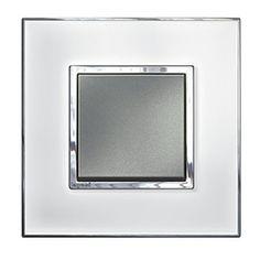 Arteor Switch Push-button Mirror White