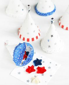 Fourth of July DIY: Turn water cooler paper cups into Patriotic Treat Cones