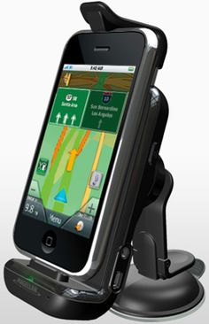Iphone's GPS Car Kit From Magellan - http://gogopinkie.tumblr.com/136822968128