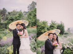 Wedding Photos in the Perennial Border at Toronto Botanical Garden