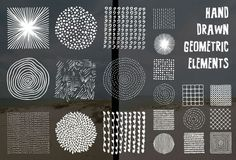 Graphic Design - Graphic Design Ideas  - Check out Hand drawn geometric elements by Rivers shop on Creative Market   Graphic Design Ideas :     – Picture :     – Description  Check out Hand drawn geometric elements by Rivers shop on Creative Market  -Read More –