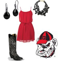 """UGA Gameday"" by bethany-atkinson-1 on Polyvore"