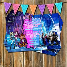 Monster High-Frozen birthday invitation-twin by MyPrintableParty