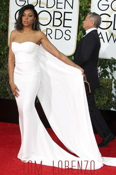 """""""Empire"""" actress Taraji P. Henson attends the Annual Golden Globe Awards held at the Beverly Hilton Hotel in Beverly Hills, California. Beautiful Black Women, Beautiful People, Taraji P Henson, Black Actresses, Oscar, Celebrity Look, Red Carpet Looks, Celebs, Celebrities"""