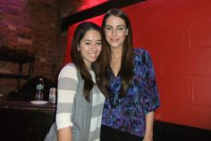 Editorial Asst. Kaitlin with 90210's Jessica Lowndes!