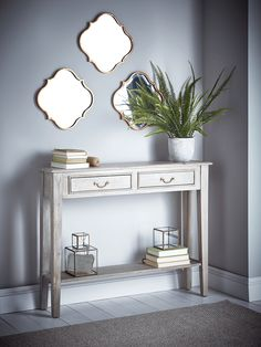 Grey Console Table - Console Tables - Dining, Coffee & Side Tables - Luxury Home Furniture