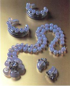 The Duchess of Windsor's blue chalcedony, diamond, and sapphire set.