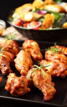 Baked Buffalo Wings. These wings are to die for! Onn, Saveur, Tandoori Chicken, Asia, Dish, Sugar, Recipes