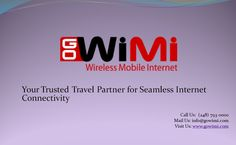 GoWiMi is a sleek, handy and pocket-size wireless internet gadget that       offers superfast internet access (3G/4G) all across the US.