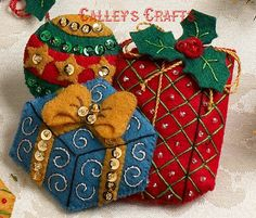 Bucilla ~ Under The Tree 6 Piece Felt Christmas Ornament Kit #86313. 2012 PATTERN ~ Discontinued in 2013 This pattern has been discontinued so please make sure you dont miss the chance to purchase one while there are still some new ones available. If you like the new Under the Tree stocking kit you will love these adorable ornaments that were designed to match the stocking. This kit includes 6 ornaments consisting of 2 Teddy Bears with a present and drum ornaments plus 2 Toy Soldier with…