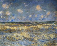Rough Sea  1881- Claude Monet