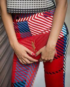 Pattern mixing  New York Fashion Week Spring 2015