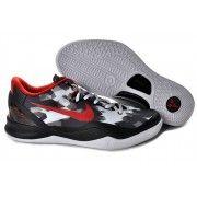 Nike Zoom Kobe VIII Mens Basketball Shoes Black White Red $88.90 http://www.blackgoto.com/nike+zoom/