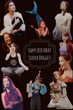 """Today 33 years ago was born the best actress and singer, Happy Birthday Sierra Boggess ! thanks for all your characters , I can not imagine what it would have been """"The Phantom of the Opera"""" and """" Love Never Dies"""" without you, or """" The Little Mermaid"""" , """" Les Miserables """" without Fantine like you, and more ! You're a talented , unique , funny , beautiful, perfect person! Sierra Boggess I love you and remember """" you are enough """" ❤️"""