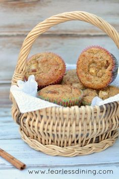 These paleo pear and cinnamon muffins are packed with protein and are a…