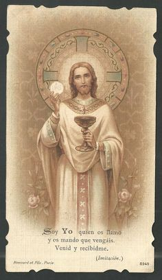 Catholic Pictures, Pictures Of Jesus Christ, Image Jesus, Jesus E Maria, Vintage Holy Cards, Christian Pictures, Christ The King, Prayer Cards, Jesus Is Lord