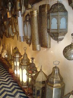 lighting shop in Fez, Morocco