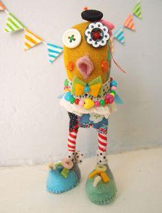 Colorful Bird Animal Handmade doll  Amélie by CarezipLittleCrafts, £30.00