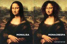 Monalisa y Monacrespa *LOL* ajajajajajaj XD #funny #puns #juegodepalabras