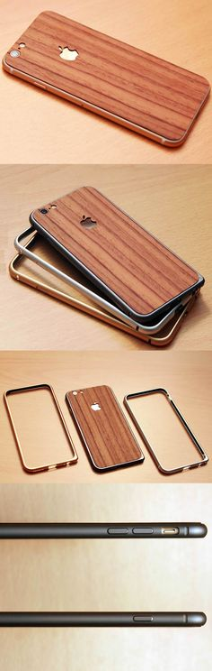 Handmade Wooden Protective Skin Phone Back Shell for iPhone 6 plus(Yellow  Sandalwood) 1dd3c7c1a9