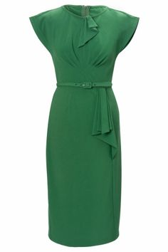 Stop Staring! - 40s Timeless vintage green pencil dress