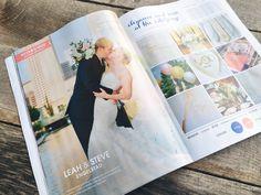 Leah + Steve's summer wedding featured in WeddingDay Magazine!