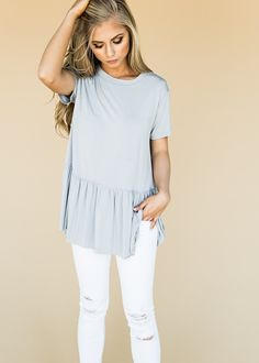 Wish Peplum, peplum top, shirt, jessakae, style, fashion, womens fashion, ootd, blonde, hair