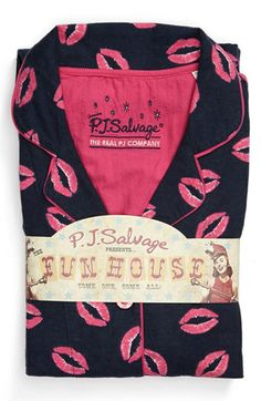 PJ Salvage Print Flannel Pajamas available at #Nordstrom in Size Large