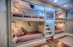 ≪ 4 bunk beds, bunk bed rooms, modern bunk beds, built ins, bunk bed 4 Bunk Beds, Bunk Bed Rooms, Bunk Beds Built In, Modern Bunk Beds, Cool Bunk Beds, Bunk Beds With Stairs, Kid Beds, Bunk Beds For Kids, Bunk Bed Designs