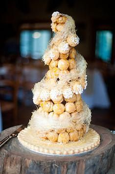 Adelaide Wedding Pages   Croquembouche Cake   Ruffled