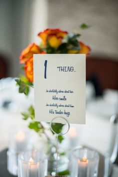Table numbers with meaning! Photo by Foskett Creative