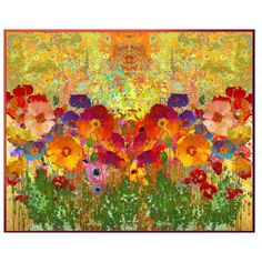 Klimt's Poppies by telynor on Polyvore featuring polyvore, art, collage and abstract