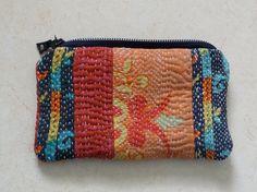 vintage kantha quilt purse