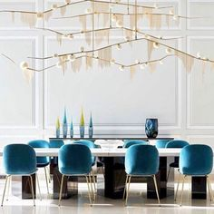 Take a look to some inspiring and luxury dining room lighting ideas. Dining Room Inspiration, Interior Design Inspiration, Decor Interior Design, Interior Decorating, Design Ideas, Decorating Ideas, Design Interiors, Modern Interiors, Furniture Inspiration