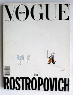 Vogue Paris Decembre/Janvier 1990 par Rostropovich